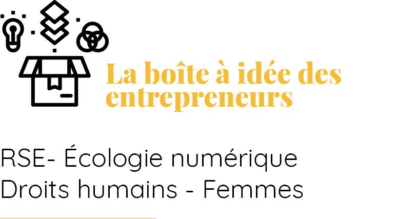 La boîte à idée des entrepreneurs - Bolewa Sabourin
