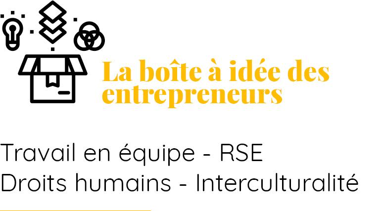 Travail en équipe, RSE, Droits humains, Interculturalité